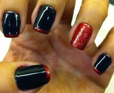 red and black nail  2015