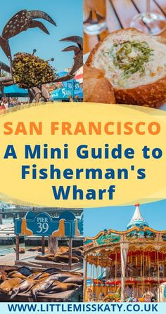 A Mini Guide to Fisherman's Wharf - San Francisco-- Tanks that Get Around is an online store offering a selection of funny travel clothes for world explorers. for funny travel tank tops and more US road trip destinations San Francisco With Kids, San Francisco Food, Fisherman's Wharf San Francisco, San Francisco California, Weekend In San Francisco, San Francisco Tours, San Francisco Vacation, San Francisco Restaurants, Us Travel Destinations