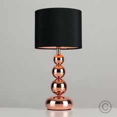 Modern Touch Table Lamp With Copper Base