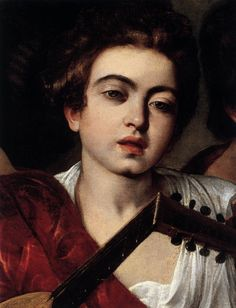 "Detail from Caravaggio's ""The Musicians"", 1595-96."