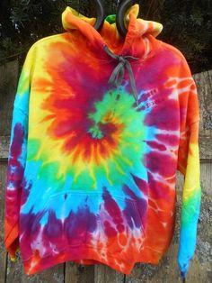Rainbow Tie-Dye Pullover Hoodie – Aura Tie-Dye on-line store Pullover Hoodie, Tie Dye Sweatshirt, Hoodie Sweatshirts, Hoodies, Tie Dye Designs, T Shirt Designs, Tye Dye, Moda Tie Dye, Rainbow Tie Dye Hoodie