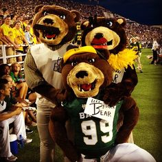Even Bruiser's parents made it back for #Baylor Parent & Family Weekend!