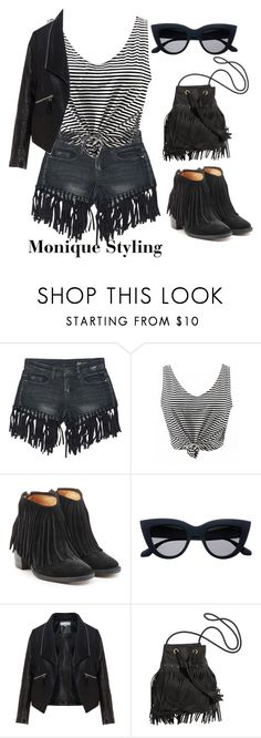 """""""Jeans shorts - styling for edgy personality"""" by monicazelin on Polyvore featuring Sans Souci, Fiorentini + Baker and Zizzi"""