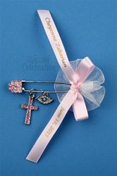 Mati eye pin by Blessed Creations- Greek Baptism supplies