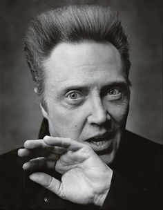 Just in from crazy town.    Mark Seliger - Christopher Walken