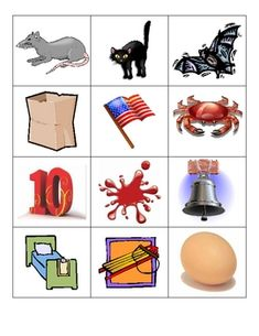 These are picture cards to be utilized during a center activity. Students can sort cards into tubs, bins, envelopes, etc....