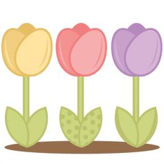 Daily freebie 3-12-14: Miss Kate Cuttables--Tulips SVG cutting files for scrapboking tulip svg cut files free svgs