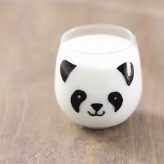 Pandas would love milk and cookies served in this adorable DIY glass. Free template included with instructions.