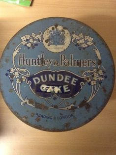 Vintage Huntley And Palmers Dundee Cake Tin