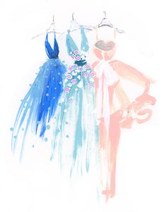 Fashion illustration by Katie Rodgers #illustrations #fashionillustration
