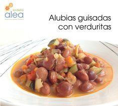 Alubias guisadas con verduritas y salmón al vino - La dieta ALEA - blog de nutrición y dietética, trucos para adelgazar, recetas para adelgazar