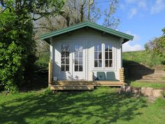 This log cabin is the perfect retreat for hobbies, for guests & teen sleep overs. Cabin Office, Garden Log Cabins, Tiny Cabins, Garden Office, Bespoke Design, Future House, Gazebo, Hobbies