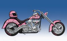 """Rebel Girl's FIRST EVER """"Rebel's For The Cause"""" LIMITED EDITION #Motorcycle Sculpture. http://www.hamiltoncollection.com/search/rebel+girl.html"""
