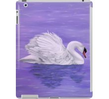 iPad Case/Skin,  unique,cool,fancy,beautiful,trendy,artistic,awesome,unusual,fashionable,accessories,gifts,presents,ideas,design,items,products,for,sale,purple,lavender,swan,lake,nature,bird,water,redbubble