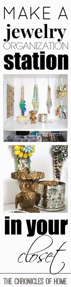 Simple DIY Jewelry Organization Station