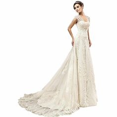 62d2459fa096 online shopping for VEPYCLY Women's Sexy Cap Sleeve Beaded Lace Wedding  Dress Bride Bridal Gown from top store. See new offer for VEPYCLY Women's  Sexy Cap ...