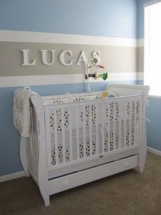 Striped Nursery Wall