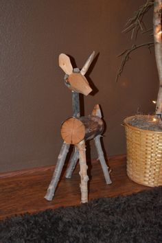 Handcrafted Log Deer Accessory by RoughcutLogworks on Etsy
