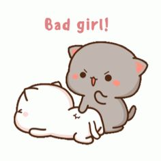 Cute Bear Drawings, Cute Animal Drawings Kawaii, Cute Cartoon Drawings, Cute Anime Cat, Cute Cat Gif, Cute Love Pictures, Cute Love Gif, Cute Cartoon Pictures, Cute Love Cartoons