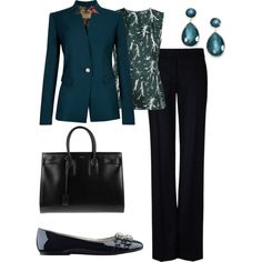 """fall work outfit"" by lmspowellhr on Polyvore"