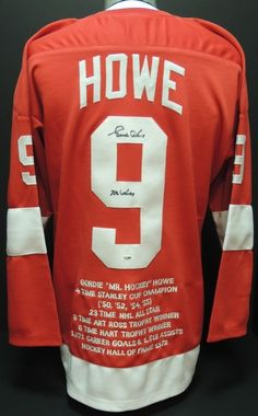 AAA Sports Memorabilia LLC - Gordie Howe Autographed Detroit Red Wings Red Jersey with MR HOCKEY Inscription and sewn on STATS, $374.94 (http://www.aaasportsmemorabilia.com/nhl/detroit-red-wings/gordie-howe-autographed-detroit-red-wings-red-jersey-with-mr-hockey-inscription-and-sewn-on-stats/)