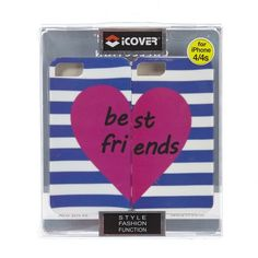 Best Friends Iphone4 by iCover Purple Pink and White For Apple and For iphone 4s #iCover