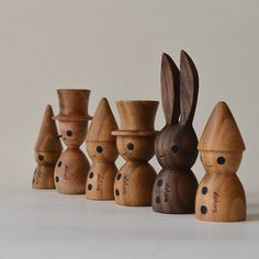 #woodturning #woodcarving #woodworking #tomte #bunny #snowman #木工 #ハンドメイド