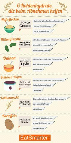Diese 6 Kohlenhydrate helfen beim Abnehmen | eatsmarter.de #kohlenhydrate #abnehmen #lowcarb