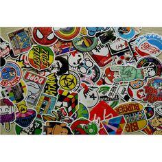 100Pcs Fashion Cartoon Graffiti Stickers Car Decals Skateboard Luggage Bumper