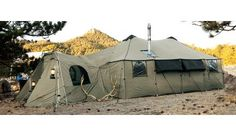 Cabela's Alaknak tents...home while you build your other home.