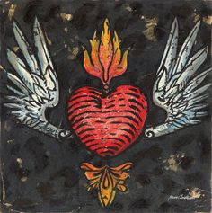 Winged Heart Tattoo | Music Art Collection | Canvas Art Prints