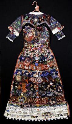 "Jane Lund ~ ""Marriage Dress"" via Danforth Art | Past Exhibitions:  Home Body (2012)"