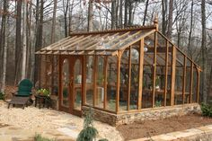 I love this greenhouse...now, how can I make this out of old windows?