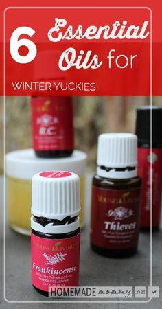 6 Essential Oils for Winter Yuckies | www.homemademommy.net
