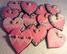 Rose Colored Valentines by Cookie Celebration | Cookie Connection
