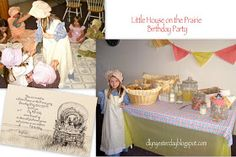 A Little House on the Prairie birthday party?!? I would have LOVED this when I was ten... Maybe for Gracie someday :)