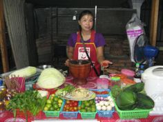 Produce from the morning market in Luang Namtha. Only fresh, daily ingredients at the Forest Retreat!