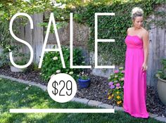 """Full Length Strapless Maxi Dress! Elastic smocked back and partially lined, but not sheer. A little eyelet detail on the bust! Free Domestic Shipping on All Orders.Small: Size 3/5- Length 52""""-Bust 26"""" Medium: Size 5/7-Length 53""""Bust 28"""" Large: 9/12- Length 54""""- Bust 30"""" Measurements are based off of the bust """"not"""" being stretched. Dress has a Smocked Back With Room for Stretch and Elastic Under the Bust as Well    Shop this product here: http://spreesy.com/shoptopshelfwardrobe/929   Shop…"""