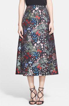 Valentino Floral Brocade Silk Midi Skirt available at #Nordstrom