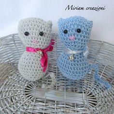 Coppia gattini Amigurumi, by vetrina miriam chiocciola, 16,00 € su misshobby.com