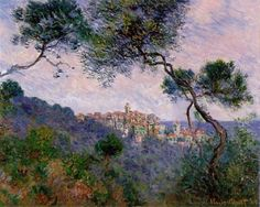 """""""Bordighera, Italy"""" by Claude Monet, Completion Date: 1884 ・ Style: Impressionism ・ Genre: landscape"""