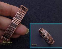 Men copper cuff braceletTwisted Men BraceletMan Bangle