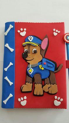 Cuaderno patrulla canina goma eva marshall