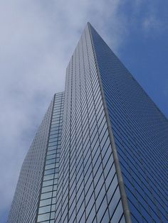 The John Hancock Tower. The tallest skyscraper in Boston designed by I. M. Pei & Partners, 1976. Less than a 10 minute walk from the BAC. #Boston