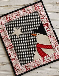 Starlite Snowman Mini Quilt Pattern at The Sweetwater Co