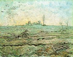 VINCENT VAN GOGH. The Plough and the Harrow (after Millet), 1890, oil on canvas.