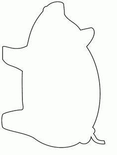 Printable Pig Simple 4thshapes Coloring Pages