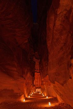 Ancient Petra by candle light by Sergey Ershov, via 500px