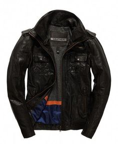 cb856da3 Shop Superdry Mens Ryan Jacket in Dark Brown. Buy now with free delivery  from the Official Superdry Store.