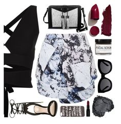 """""""Hands To Myself"""" by sofemmeia ❤ liked on Polyvore featuring Proenza Schouler, Topshop, ALDO, Carianne Moore, JFR, Karen Walker, Smashbox, NARS Cosmetics, Fig+Yarrow and Lipstick Queen"""